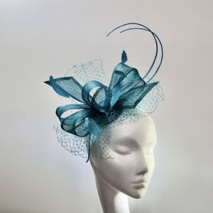 13967  Pretty Jade Mother of the Bride Fascinator SD 638/39